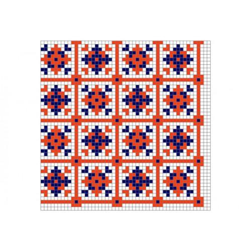 """Безкоштовна схема для вишивки хрестиком """"Орнамент 75"""""""