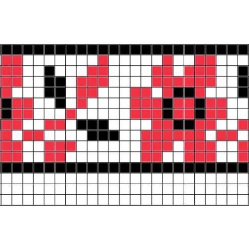"""Бесплатная схема для вышивки крестом """"Орнамент 84"""""""