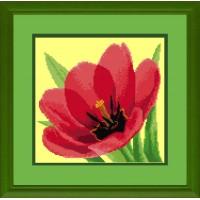 """Бесплатная схема для вышивки крестом """"Тюльпаны"""""""