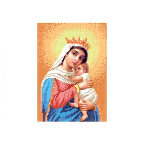 """Схема для вышивки бисером иконы """"Божья матерь Отчаянных последняя надежда"""""""