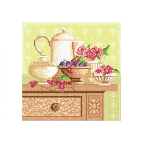 """Схема для вышивки бисером """"Кухонный натюрморт"""""""