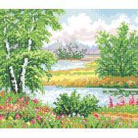 """""""Лісове озеро"""" - Схема для вишивки бісером"""