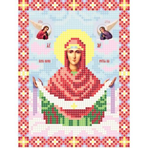 """Схема для вишивки бісером ікони """"Божа матір Покрова А5"""""""