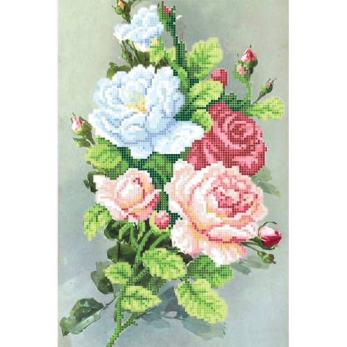 """Схема для вышивки бисером """"Утренние розы"""""""
