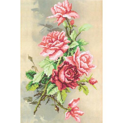 """Схема для вышивки бисером """"Вечерняя роза"""""""