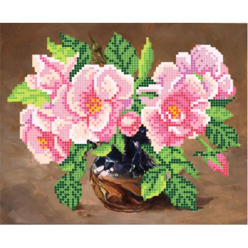 """Схема для вишивки бісером """"Дикі троянди"""""""