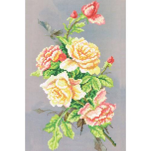"""Схема для вышивки бисером """"Ночная роза"""""""