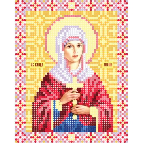 """Схема для вышивки бисером иконы """"Святая Великомученица Марина"""""""