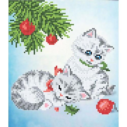 """Схема для вышивки бисером """"Котята"""""""