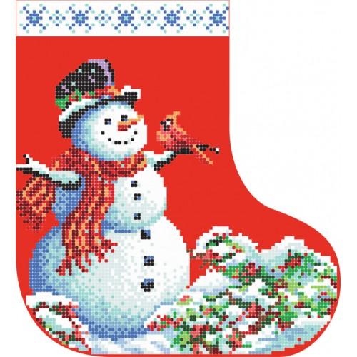 """Схема для вышивки бисером """"Новогодний сапожок 1"""""""
