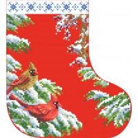 """""""Новорічний чобіток 2"""" - Схема для вишивки бісером"""