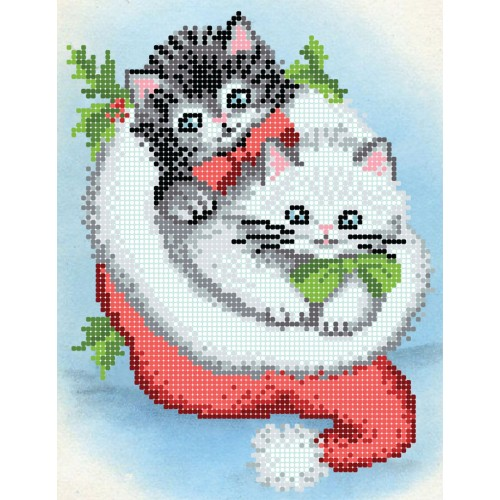 """Схема для вышивки бисером """"Веселые котики"""""""