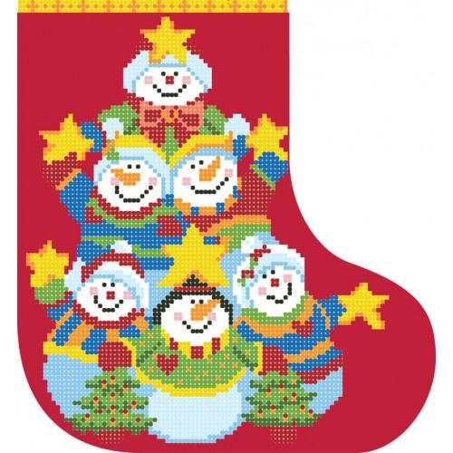"""Схема для вышивки бисером """"Новогодний сапожок 4"""""""