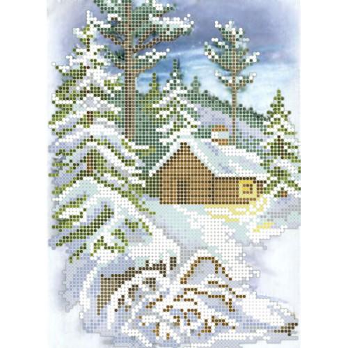 """Схема для вышивки бисером """"Зимняя прогулка"""""""