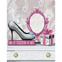"""""""Зеркальце для модницы"""" - Схема для вышивки бисером"""