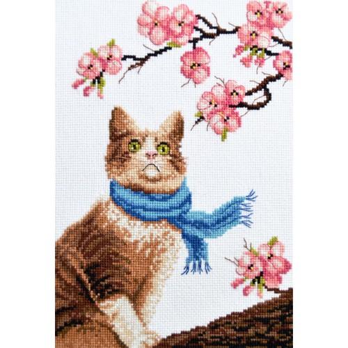 """Набір для вишивання хрестиком """"Кіт - романтик"""""""