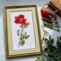 """Набір для вишивання хрестиком """"Червона троянда"""""""