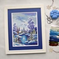 """""""Зима"""" - Набор для вышивки крестом"""